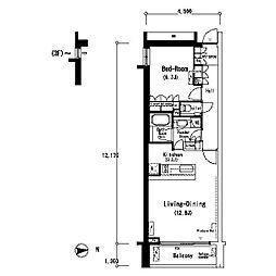 ルフォンプログレ南麻布[3階]の間取り