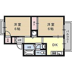 プチハイム高西[1階]の間取り