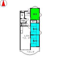 ア−バンライトビル[4階]の間取り