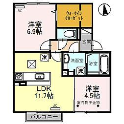 (仮称)D-room福 C棟[1階]の間取り