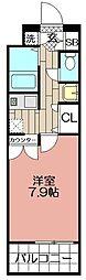 エンクレスト天神(802)[802号室]の間取り