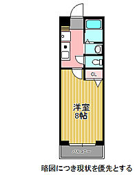 愛知県名古屋市千種区鏡池通4丁目の賃貸マンションの間取り