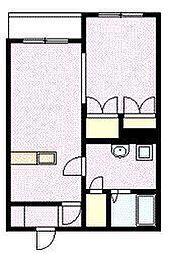 シャンノール東3条 3階1DKの間取り