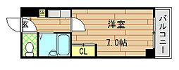 大阪府東大阪市長田中1丁目の賃貸マンションの間取り
