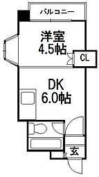 第27松井ビル[406号室]の間取り