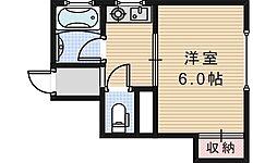 光マンション[2階]の間取り
