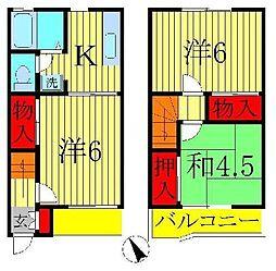 [テラスハウス] 千葉県松戸市五香西3丁目 の賃貸【/】の間取り