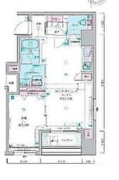 JR総武本線 馬喰町駅 徒歩4分の賃貸マンション 2階1LDKの間取り