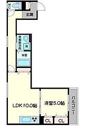 クリエオーレ生江II[1階]の間取り