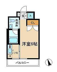 パークフラッツ松戸[10階]の間取り