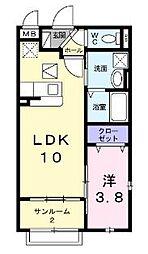 ピュアハート武庫之荘[101号室]の間取り