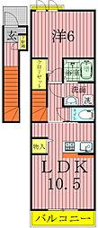 パレスハイム[2階]の間取り