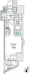 都営新宿線 神保町駅 徒歩3分の賃貸マンション 2階ワンルームの間取り