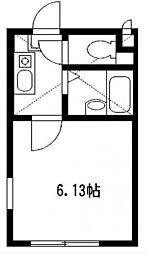 神奈川県相模原市中央区富士見2丁目の賃貸アパートの間取り