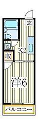 イーグルハイツB[2階]の間取り