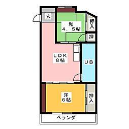 岡林ビル[4階]の間取り