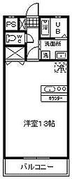 花ヶ島コーポ[205号室]の間取り