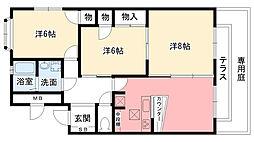 瓦林サニーハイツI・II[2-101号室]の間取り