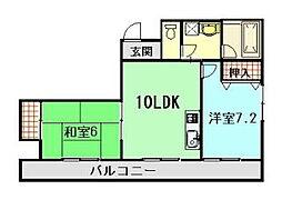 小西第2ビル[10階]の間取り