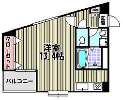 ワイズアーク堺東[5階]の間取り