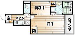 サンデリアーナIII A棟[1階]の間取り