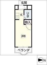 クレールショウワIII[1階]の間取り