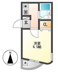 アパートメントロミオ[4階]の間取り