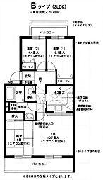 オクトス市ヶ尾(2)[2階]の間取り