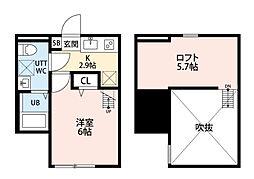 クレスト平塚[203号室]の間取り
