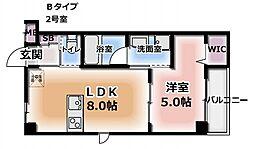 ミサワレジデンス柳田町[1階]の間取り