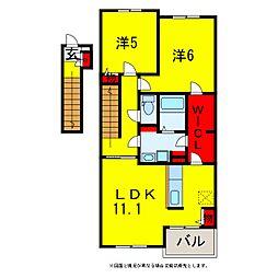 イーストフラワー更級III[2階]の間取り