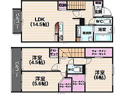 ディールーム平和弐番館[102号室]の間取り