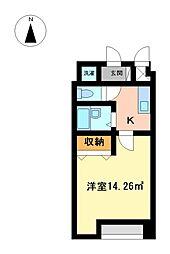 セゾン松葉[5階]の間取り