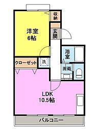 吉井レジデンス[109号室]の間取り