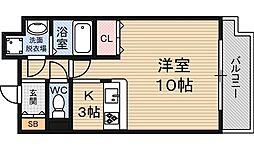 インザグレイス東三国[3階]の間取り