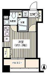東京都墨田区横網2丁目の賃貸マンションの間取り