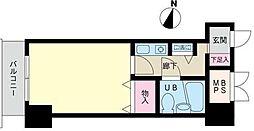 神奈川県横浜市西区平沼2丁目の賃貸マンションの間取り