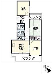 Pyxis21[3階]の間取り