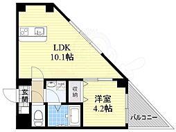 Satsuma-1st 2階1LDKの間取り