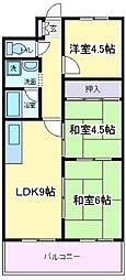 コーポナカイ[4階]の間取り