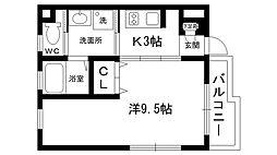 SANJU2[1階]の間取り