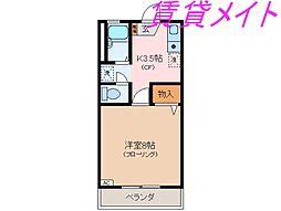 コーポNORA[2階]の間取り