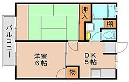 ハイツ坂本[2階]の間取り