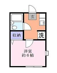 メゾンヴァンベール[1階]の間取り