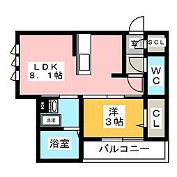 仮)D-room加納東広江町 3階1LDKの間取り