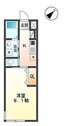 袖ケ浦市代宿97番5他新築アパート[206号室]の間取り