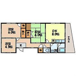 貞方アパート[1F号室]の間取り