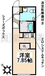 名古屋市営東山線 東山公園駅 徒歩4分の賃貸マンション 3階ワンルームの間取り