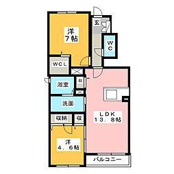 (仮称)JA賃貸 南区上浜町[1階]の間取り