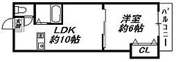 大阪府大阪市住吉区我孫子2丁目の賃貸マンションの間取り